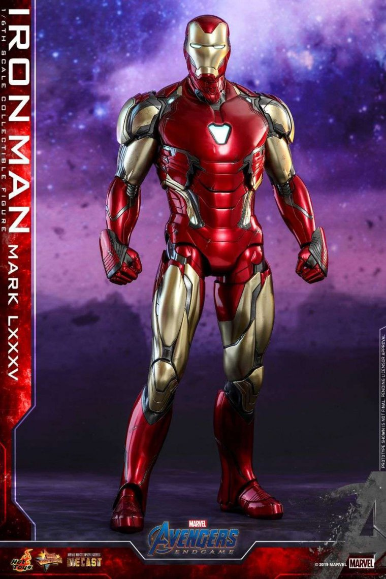Avengers Endgame - Figurine Hot Toys Iron Man Mark LXXXV 02