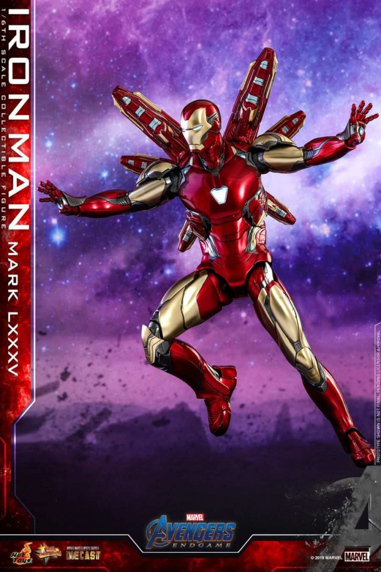 Avengers Endgame - Figurine Hot Toys Iron Man Mark LXXXV 05