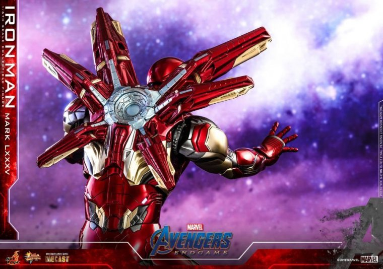 Avengers Endgame - Figurine Hot Toys Iron Man Mark LXXXV 08