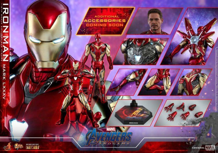 Avengers Endgame - Figurine Hot Toys Iron Man Mark LXXXV 10