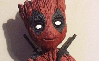 Baby Groot a droit à sa version Deadpool créée par un fan