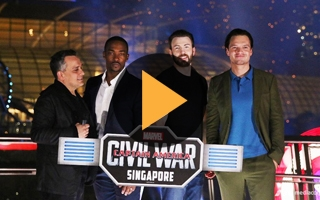Captain America Civil War : Singapour se met aux couleurs de la Team Cap