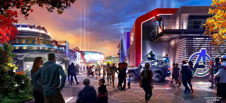 Concept art de la zone Marvel