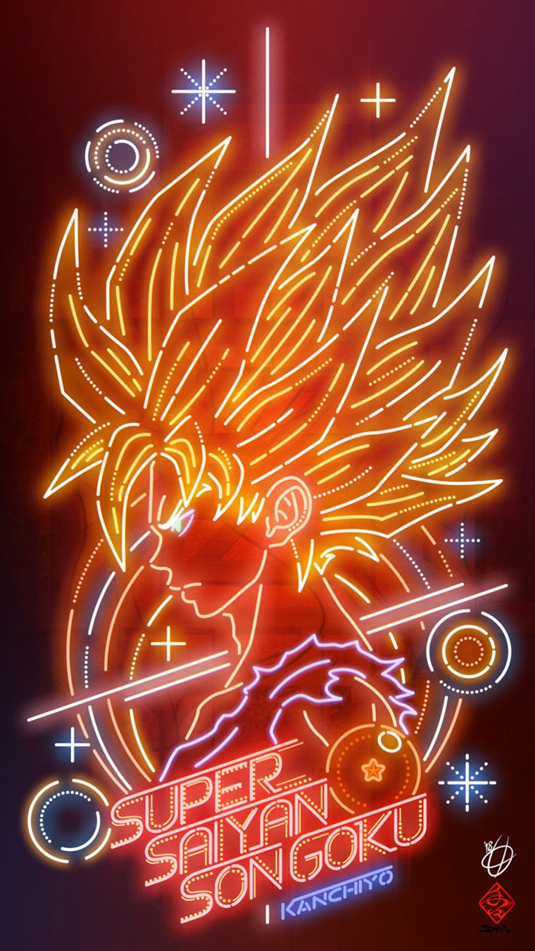 Dragon Ball - Goku Super Saiyan par Kanchiyo