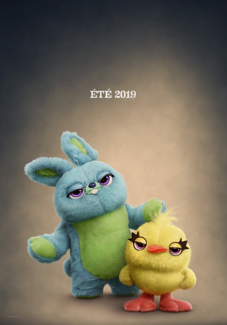 Toy Story 4 - Affiche Bunny et Ducky