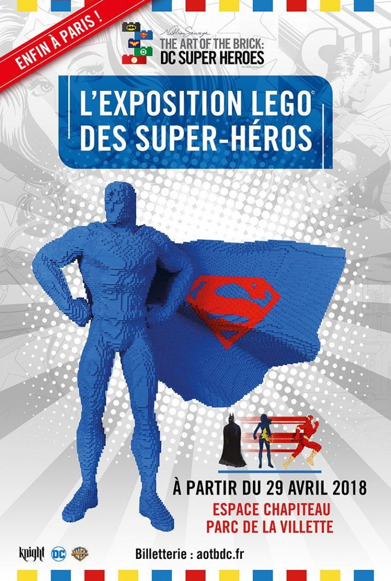 The Art Of The Brick : DC Super Heroes affiche
