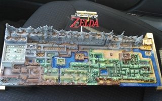 La map du jeu original The Legend of Zelda imprimée en 3D par un fan