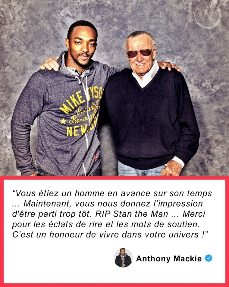 Anthony Mackie rend hommage à Stan Lee