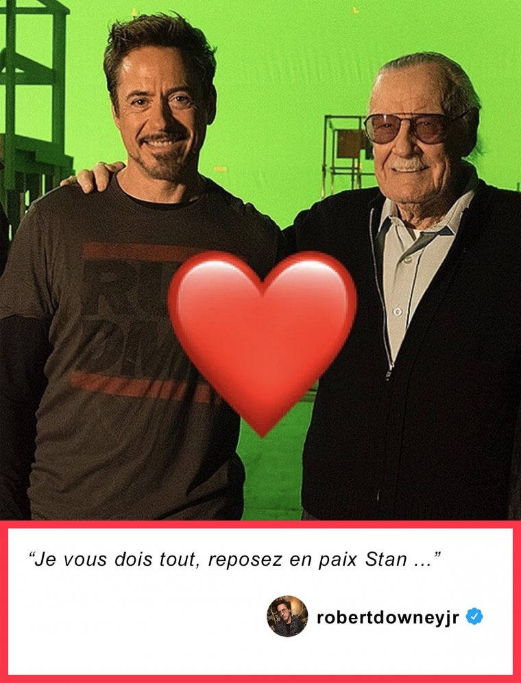 Robert Downey Jr rend hommage à Stan Lee