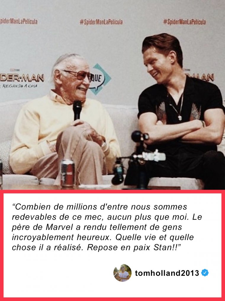 Tom Holland rend hommage à Stan Lee