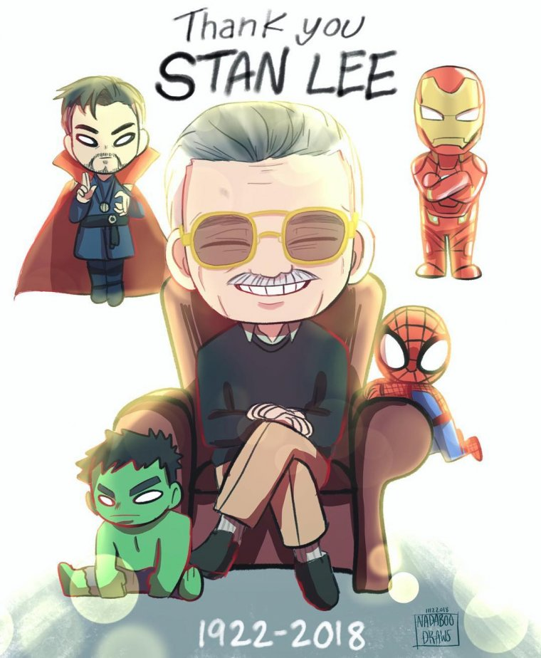 Hommage à Stan Lee - Nadaboo Draws
