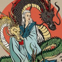 Les personnages de Game of Thrones en mode estampe japonaise
