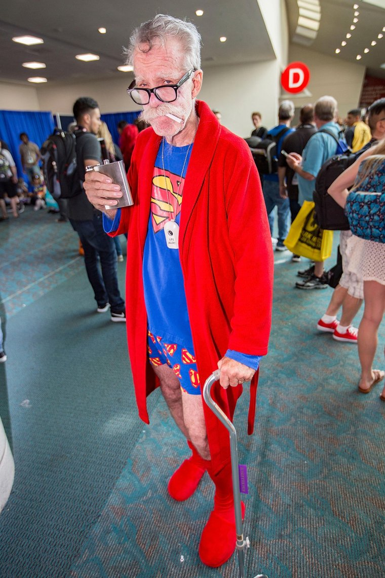 Les plus beaux cosplays du Comic-Con de San Diego 2018 - Papy Superman