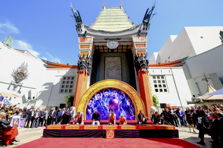 Avengers Chinese Theatre de Hollywood Boulevard 16
