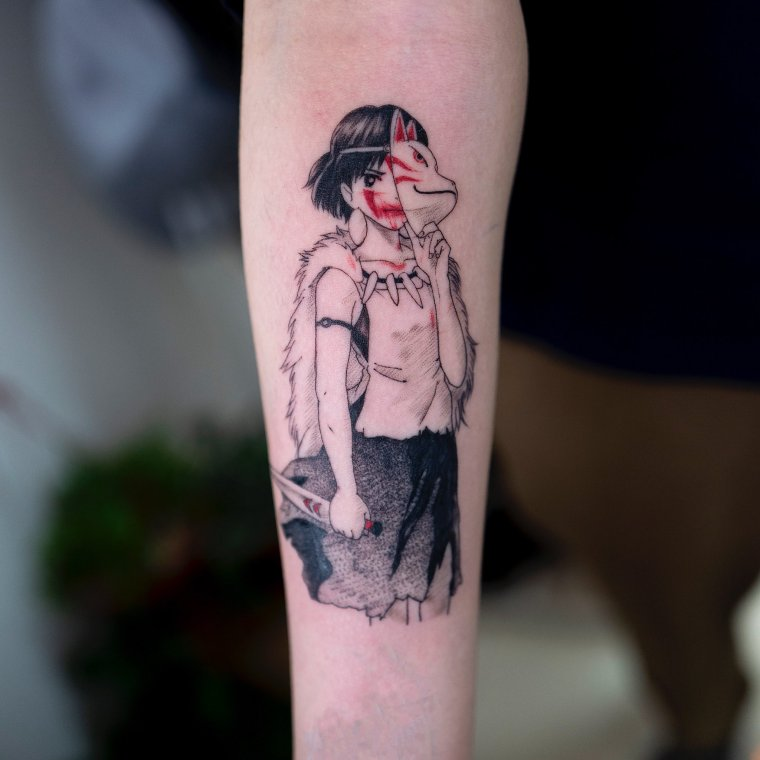 Tatouage Princesse Mononoke