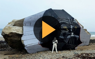 Star Wars : Dark Vador a fait son apparition sur un blockhaus de Normandie