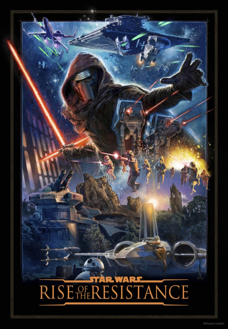 Star Wars : Rise of the Resistance - Affiche