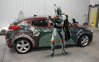 Star Wars : la voiture Boba Fett