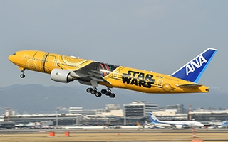 Star Wars : un avion aux couleurs de C-3PO