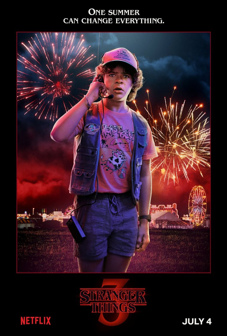 Stranger Things saison 3 - Affiche Dustin