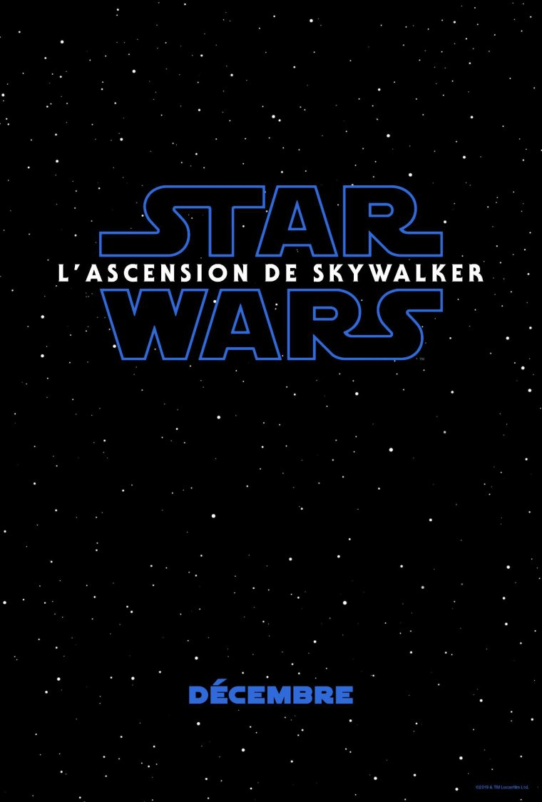 Star Wars : L'Ascension de Skywalker - Affiche teaser
